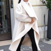 Celebrity Style: Kim Kardashian Street Styles Glamsugar.com White coat...
