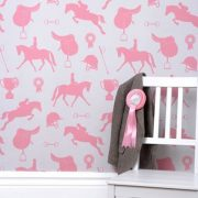 Girls Wallpaper in Gymkhana Coral Pink...
