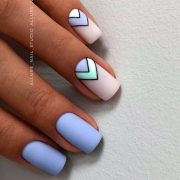 Fashionable Matte Blue Nail Art Designs For Summer...
