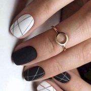 Minimalist black and white...