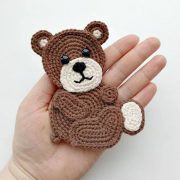 PATTERN Bear Crochet Applique Pattern PDF Woodland Animals...