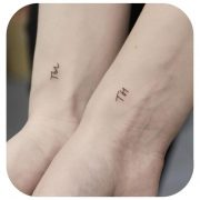 Small Tattoo Models Small paired tattoos Friends tell me how you feel about pair...