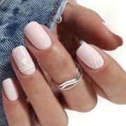 Sooo fantastic pink and white nail art...