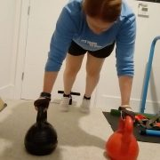 Working on that core strength. Trying new things.This will take practice for a l...