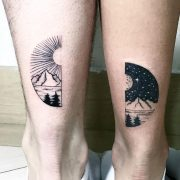 creative couple tattoo ideas ©  💘💘💘 Think and Drink Tattoo...