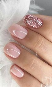 39 Fabulous Ways to Wear Glitter Nails Designs for 2019 Summer! Part 4 pin.2elci.com Best Nails Pin