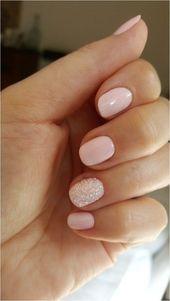 55 Glitter Gel Nail Designs für kurze Nägel für den Frühling 2019 #shortnail... pin.2elci.com Best Nails Pin