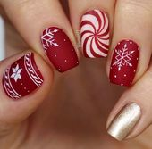 71 Christmas Nail Art Designs & Ideas for 2019   Page 7 of 7   StayGlam pin.2elci.com Best Nails Pin