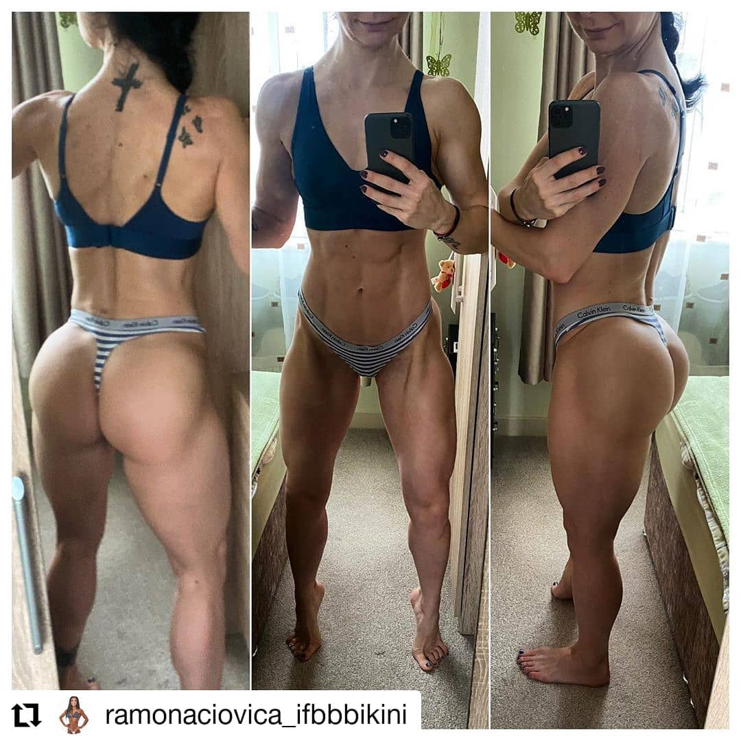 Ramona looking fantastic during off season. On fireeeee  #Repost @ramonaciovica_ifbbbikini • • • • • • Change is inevitable, but #transformation is by...