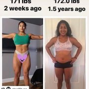 . 172 lbs VS 171 lbs?! It's  with  Believer  & she is showing us what a Body Recomposition Transformation is all about!  Gabi used Abs & Buns of Ste...