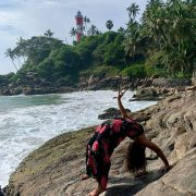 Om my name is Himanshi   My journey of yoga started 2 years ago and I believe this is the best thing that happen to me.  Chakrasana -good for the spin...