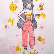 Strawberry Lemonade  this drawing is like a summer-themed drawing and yet Christ...