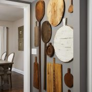 Wall decor ideas for kitchen, old cutting boards, wall...