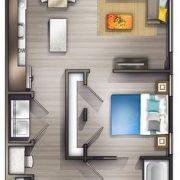 Bir Artı Bir Ev Planlarına 21 Başarılı Örnek - FarklıFarklı