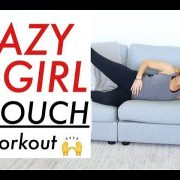 LAZY GIRL WORKOUT ON COUCH | TRACY CAMPOLI | AB LEG AND BOOTY WORKOUT AT HOME
