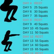 Most Effective Squat Challenge - 25 Days Squats Challenge
