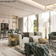 Modern interior design for a luxury house in Dubai by Fancy House Design | homify