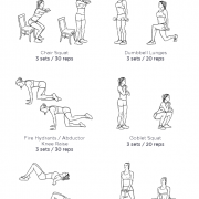 AT HOME BUTT: my visual workout created at WorkoutLabs...