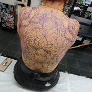 Day two for  's back piece woohoo!!!                 ...