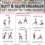 ? Compound Butt & Glute Enlarger: Crazy Effective Workout For Booty Growth - These Results Amaze.. - Transform Fitspo