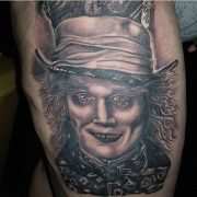 The beginning of a Mad hatter tattoo from July. Work by Noddy.         ...
