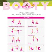 Booty building and toning workout! Pyramid circuit.