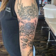 Some flowers added to this arm I've been working on and the sunflower antlers up...