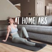 AT HOME ABS! ⠀ Babes, grab your yoga mats and try this circuit for the six pack!...